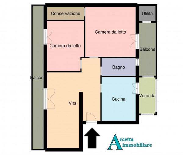 Appartamento in vendita a Taranto, Rione Italia, Montegranaro, 95 mq - Foto 2
