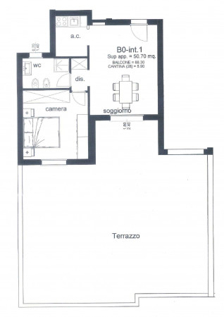 Appartamento in affitto a Roma, Colle Degli Abeti - Ponte Di Nona, 51 mq - Foto 2