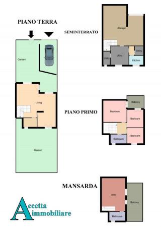 Villa in vendita a Taranto, Talsano, Con giardino, 180 mq - Foto 2