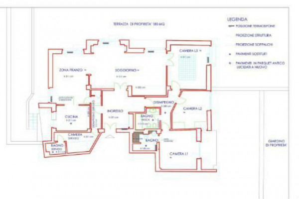 Appartamento in affitto a Roma, Con giardino, 160 mq - Foto 2