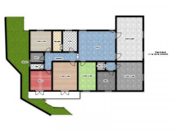 Appartamento in vendita a Genova, Manin, Con giardino, 220 mq - Foto 5