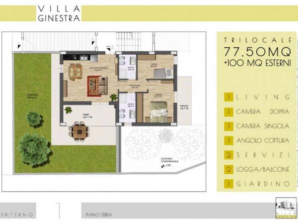 Appartamento in vendita a Roma, Portuense, Con giardino, 93 mq - Foto 2