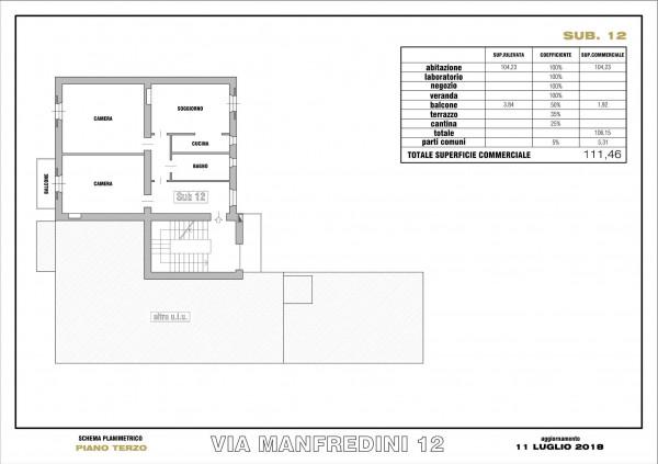 Appartamento in vendita a Milano, Paolo Sarpi, 112 mq - Foto 8