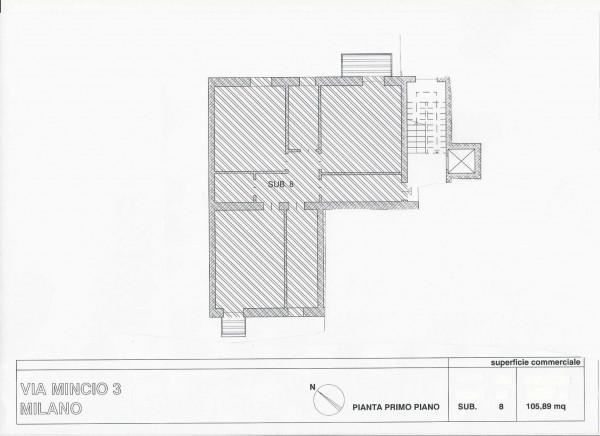 Appartamento in vendita a Milano, Brenta, 105 mq - Foto 6