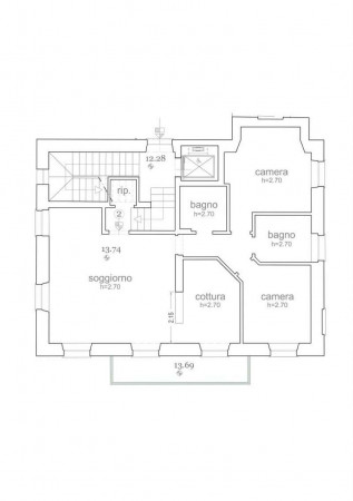Appartamento in vendita a Santa Margherita Ligure, Centro, 100 mq - Foto 2