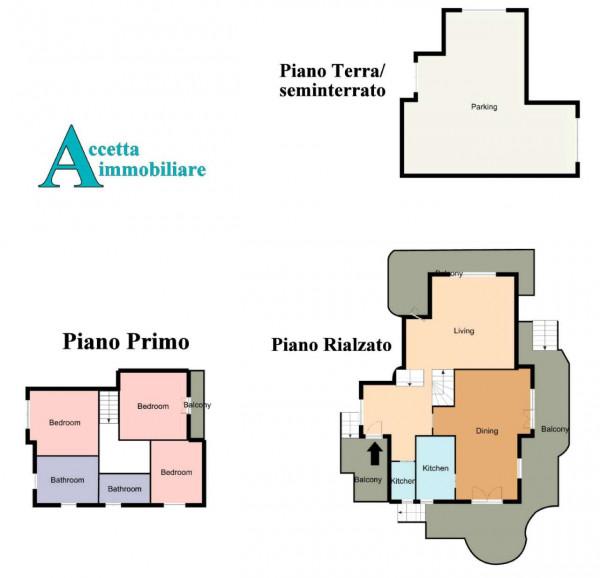 Villa in vendita a Statte, Montetermiti, Con giardino, 290 mq - Foto 2