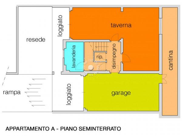Villa in vendita a Vaglia, Con giardino, 362 mq - Foto 4
