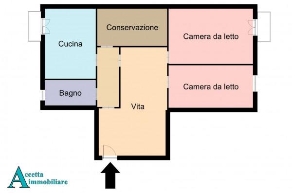 Appartamento in vendita a Taranto, Rione Italia, Montegranaro, 118 mq - Foto 2