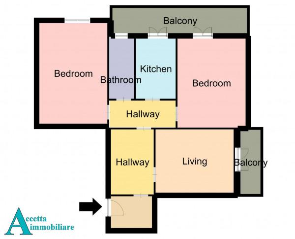 Appartamento in vendita a Taranto, Rione Italia, Montegranaro, 113 mq - Foto 2