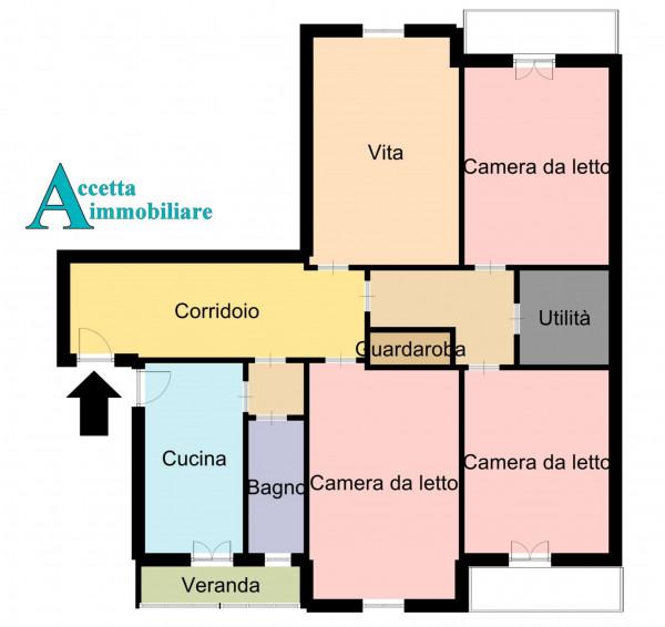 Appartamento in vendita a Taranto, Tre Carrare, Battisti, 152 mq - Foto 7