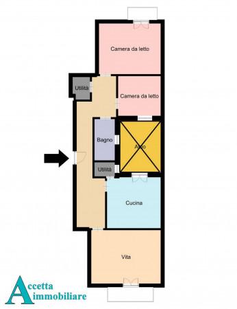Appartamento in vendita a San Giorgio Ionico, 107 mq - Foto 2