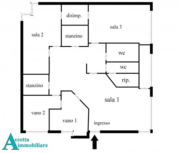 Ufficio in vendita a Taranto, Rione Italia, Montegranaro, 209 mq - Foto 2