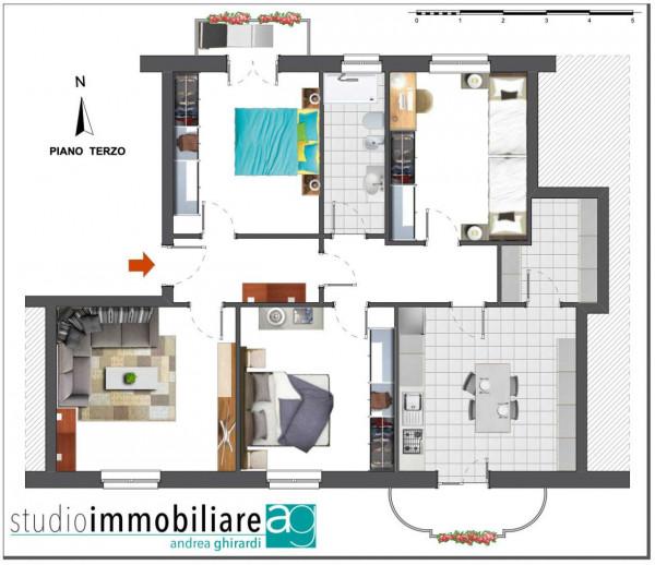 Appartamento in vendita a Genova, Sestri Ponente, 110 mq - Foto 2