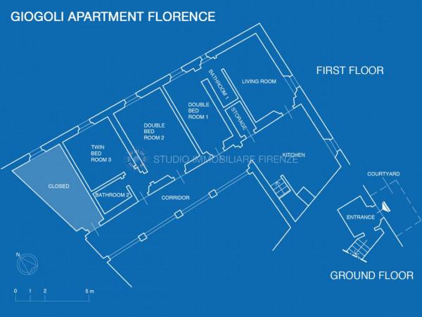 Appartamento in affitto a Firenze, Arredato, con giardino, 150 mq - Foto 19