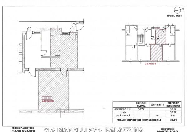 Appartamento in vendita a Sesto San Giovanni, Marelli, 38 mq - Foto 4