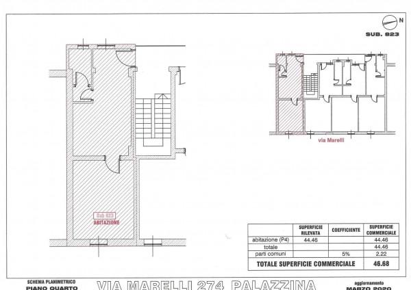 Appartamento in vendita a Sesto San Giovanni, Marelli, 46 mq - Foto 4