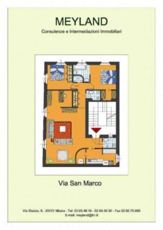 Appartamento in vendita a Milano, Moscova, Con giardino, 120 mq - Foto 2