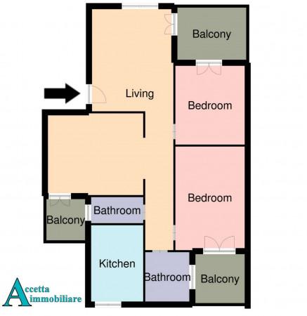 Appartamento in vendita a Taranto, Rione Laghi - Taranto 2, Con giardino, 114 mq - Foto 2