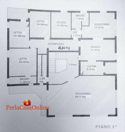 Casa indipendente in vendita a Forlì, Con giardino, 390 mq - Foto 3