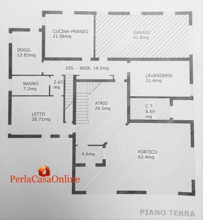 Casa indipendente in vendita a Forlì, Con giardino, 390 mq - Foto 4