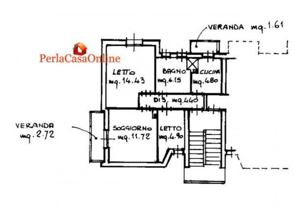 Appartamento in vendita a Forlì, Cà Ossi, Arredato, con giardino, 60 mq - Foto 3