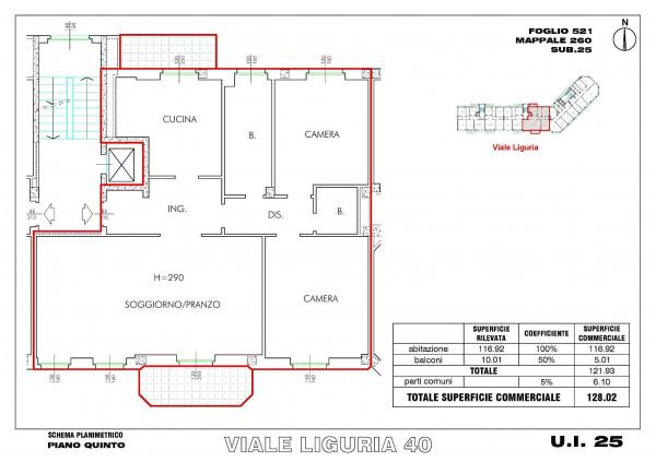 Appartamento in vendita a Milano, Romolo, Con giardino, 128 mq - Foto 16
