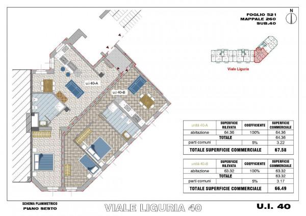 Appartamento in vendita a Milano, Romolo, Con giardino, 67 mq - Foto 4