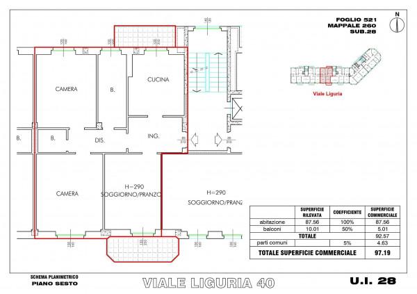 Appartamento in vendita a Milano, Romolo, Con giardino, 98 mq - Foto 2