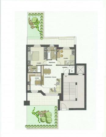 Appartamento in vendita a Senago, Con giardino, 116 mq