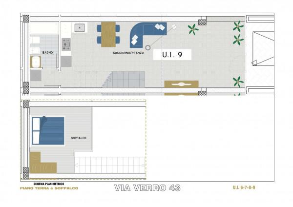 Appartamento in vendita a Milano, Via Spadolini/ Bazzi/ Bocconi, Con giardino, 54 mq - Foto 17
