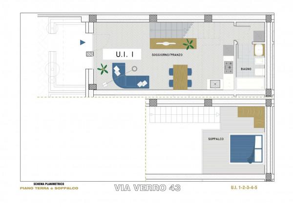 Appartamento in vendita a Milano, Via Spadolini/ Bazzi/ Bocconi, Con giardino, 54 mq - Foto 18