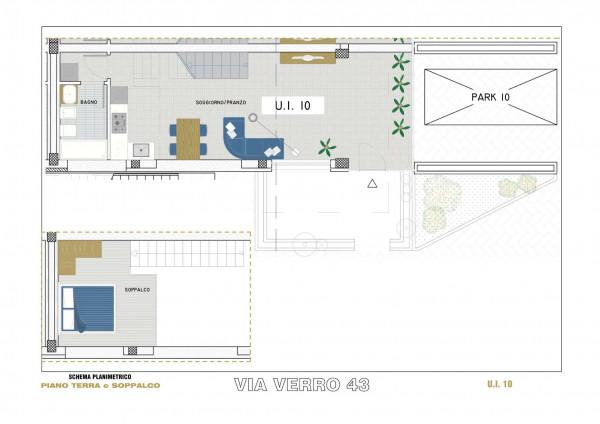Appartamento in vendita a Milano, Via Spadolini/ Bazzi/ Bocconi, Con giardino, 54 mq - Foto 16