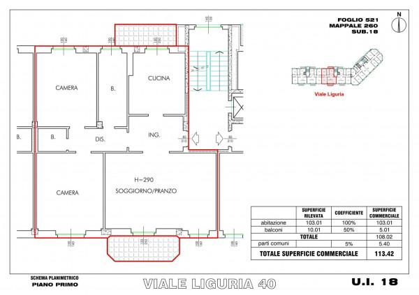 Appartamento in vendita a Milano, Romolo, Con giardino, 114 mq - Foto 2