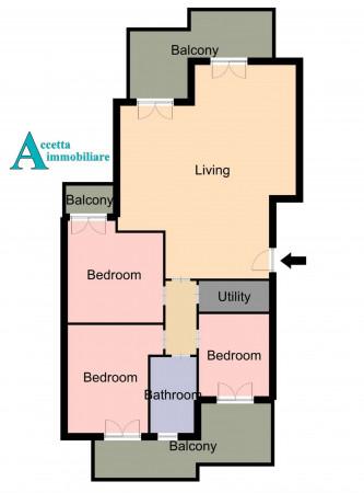 Appartamento in vendita a Taranto, Lama, Con giardino, 115 mq - Foto 2