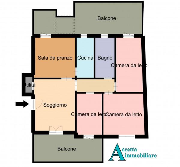 Appartamento in vendita a Monteiasi, Centrale, 110 mq - Foto 2