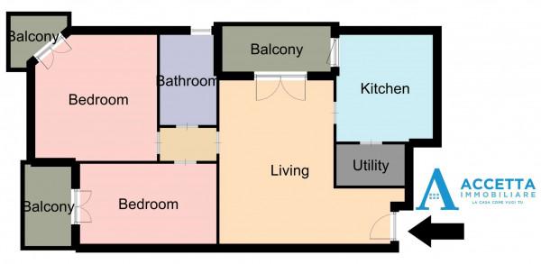 Appartamento in vendita a Taranto, Rione Laghi - Taranto 2, 93 mq - Foto 2