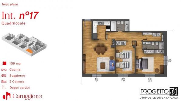 Appartamento in vendita a Chiavari, Centro Storico, 109 mq - Foto 3