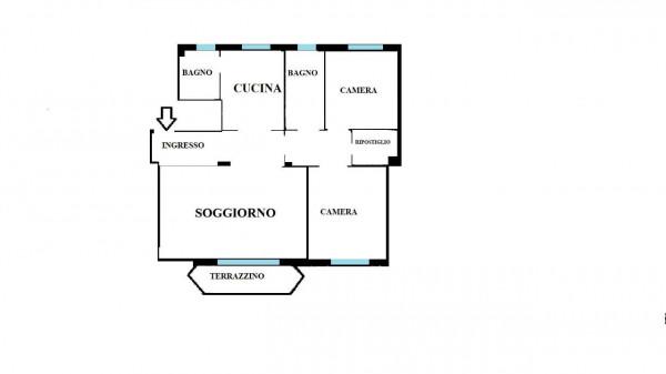 Appartamento in vendita a Milano, Bande Nere, Con giardino, 115 mq - Foto 3