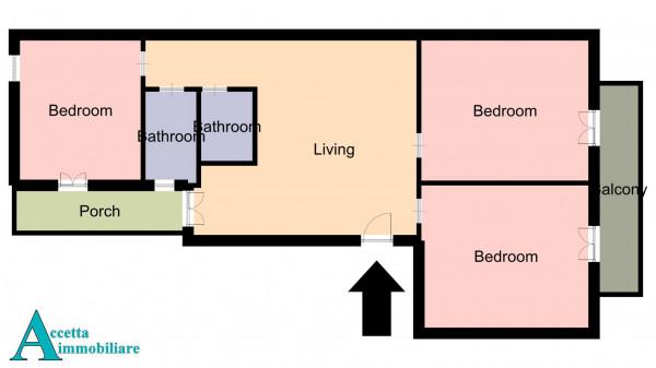Appartamento in vendita a Taranto, Rione Italia, Montegranaro, 116 mq - Foto 2