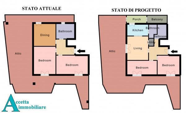 Appartamento in vendita a Taranto, Tre Carrare - Battisti, 95 mq - Foto 3