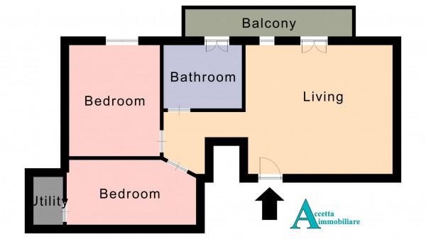 Appartamento in vendita a Taranto, Rione Italia, Montegranaro, 86 mq - Foto 2