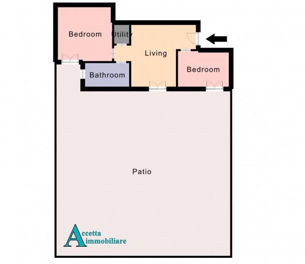 Appartamento in vendita a Taranto, Lama, Con giardino, 63 mq - Foto 2