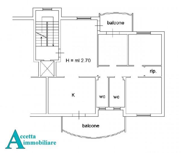 Appartamento in vendita a Taranto, Residenziale, Con giardino, 119 mq - Foto 2
