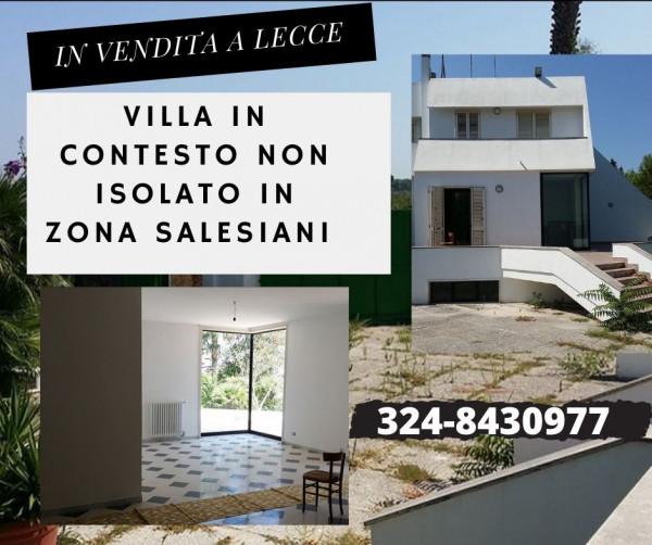 Villa in vendita a Lecce, Salesiani, Con giardino, 350 mq