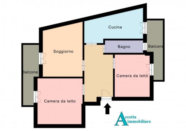 Appartamento in vendita a Taranto, Rione Italia, Montegranaro, 94 mq - Foto 2