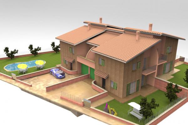 Villa in vendita a Deruta, Deruta, Con giardino, 150 mq