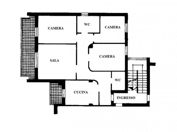 Appartamento in vendita a Colturano, Centrale, Con giardino, 125 mq - Foto 2
