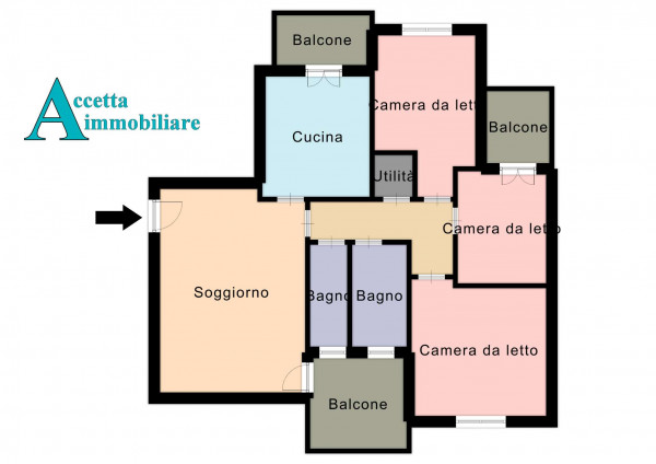 Appartamento in vendita a Taranto, Lama, 112 mq - Foto 2