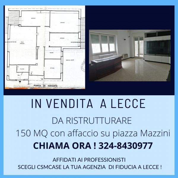 Appartamento in vendita a Lecce, Mazzini, 150 mq
