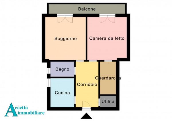 Appartamento in vendita a Taranto, Tre Carrare, Battisti, 69 mq - Foto 2
